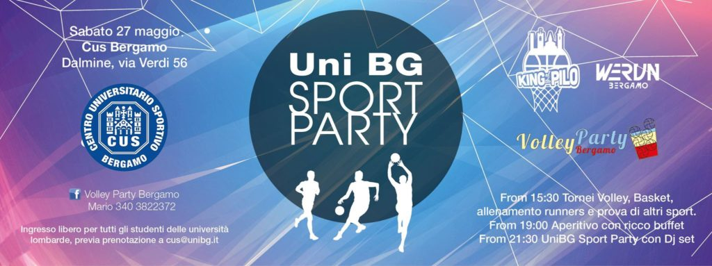 UniBG Sport Party - Invito Cus Lombardia
